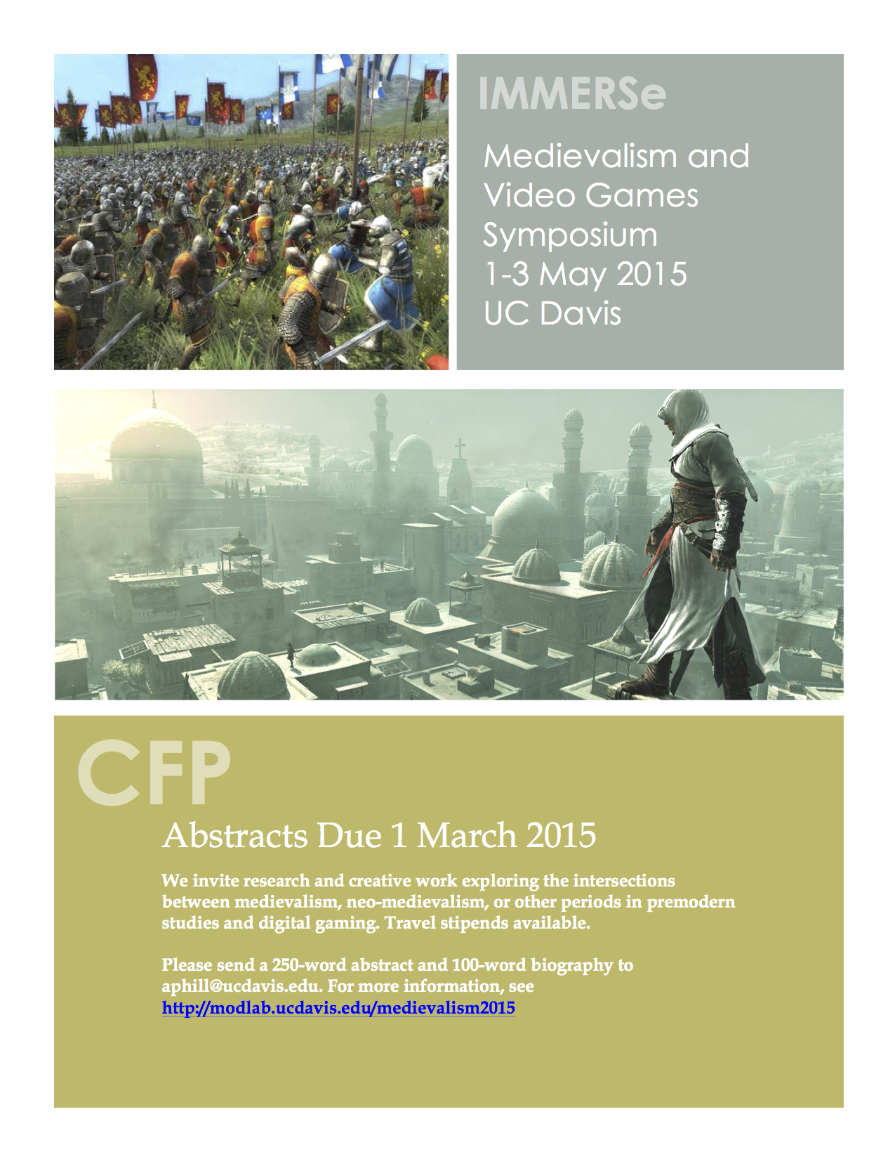 Medievalism and Video Games CFP